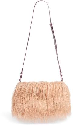 Dries Van Noten Faux Shearling Crossbody Bag