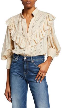 1a00e10d4fa Johanna Ortiz White Women's Button Front Tops - ShopStyle