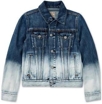 Polo Ralph Lauren Ralph Lauren Ombre Denim Cotton Jacket, Big Girls