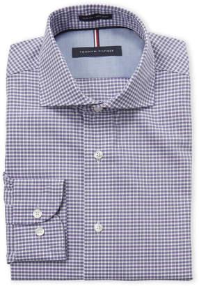 Tommy Hilfiger Purple Gingham Slim Fit Dress Shirt