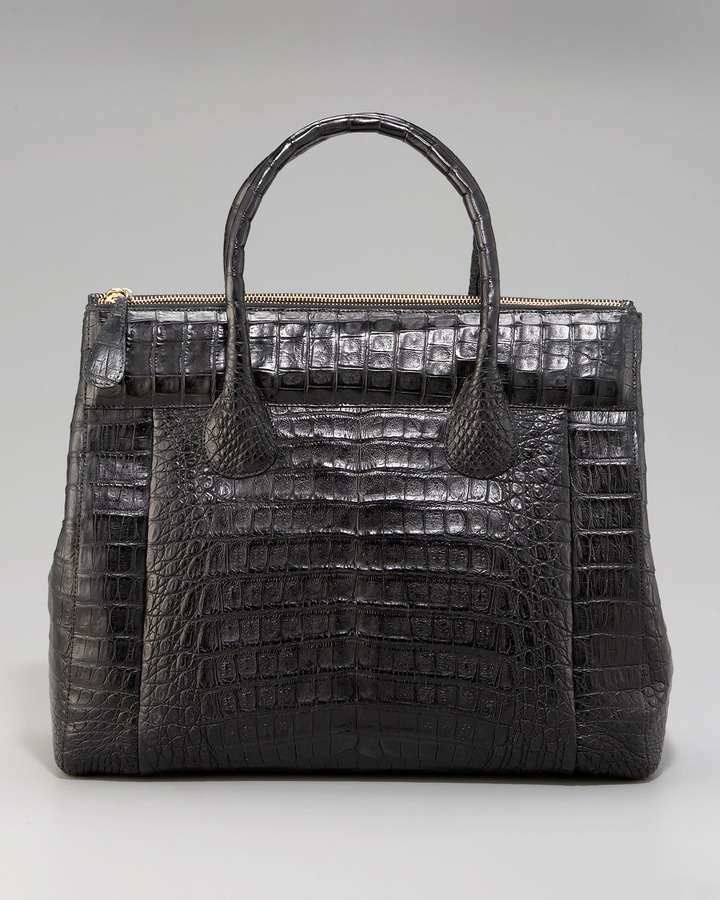Nancy Gonzalez Executive Zip-Top Croc Tote