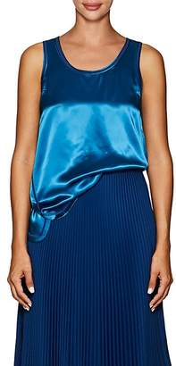 Helmut Lang Women's Cover-Stitched Satin Tank