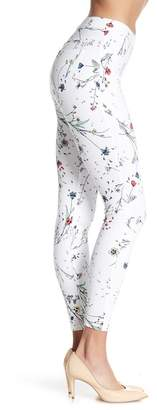 Hue Floral Print Curvy Fit Denim Leggings