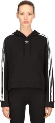adidas Cropped Cotton Sweatshirt Hoodie