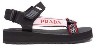 Prada (プラダ) - Prada - Multi Strap Rubber Sandals - Womens - Black Red