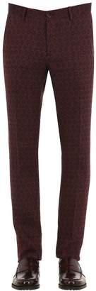 Etro Jacquard Cotton Linen Trousers