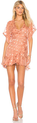 Michelle Mason Kimono Wrap Mini Dress