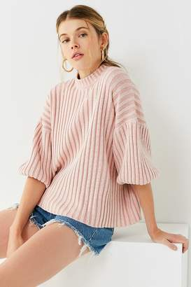 Urban Outfitters Lou Mock-Neck Pullover Sweater