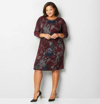 Avenue Abstract Print Hacci Dress