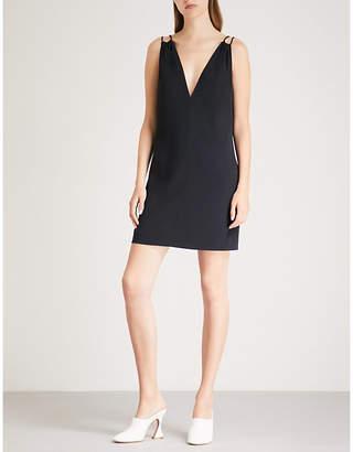 Victoria Beckham Victoria V-neck crepe mini dress