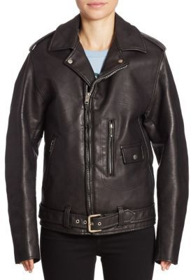 Junya Watanabe Faux Leather Moto Jacket $1,546 thestylecure.com