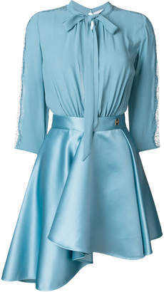 Elisabetta Franchi bow symmetric mini dress