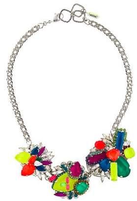 Erickson Beamon Neon Crystal Collar Necklace