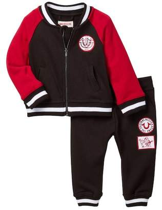 True Religion Varisty Jacket & Lounge Pants - 2 Piece Set (Baby Boys)