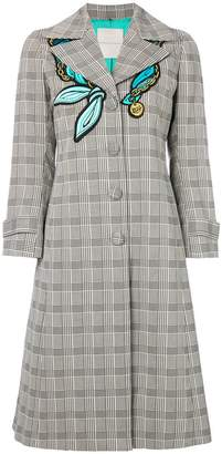 Marco De Vincenzo Prince Of Wales check coat