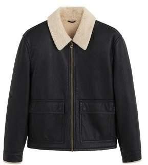 Mango Man MANGO MAN Faux shearling lining jacket