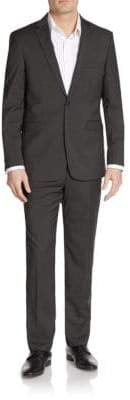 Vince Camuto Slim-Fit Tonal Hairline Striped Wool Suit