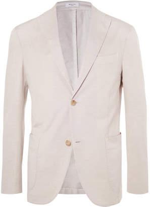 Boglioli Beige Unstructured Cotton And Linen-blend Suit Jacket - Sand