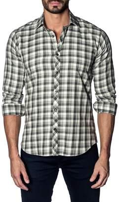 Jared Lang Button-Down Check Cotton Shirt