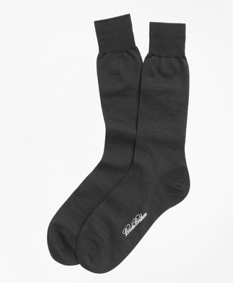 Brooks Brothers Merino Wool Mini Dot Crew Socks