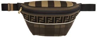 Fendi Brown Tartan Forever Waist Bag