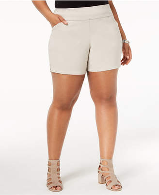 INC International Concepts I.N.C. Plus Size Pull-On Shorts, Created for Macy's