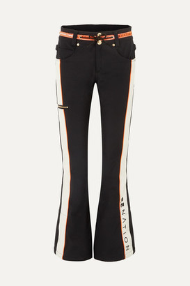 P.E Nation Dc Viva Striped Flared Ski Pants - Black
