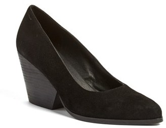 Women's Eileen Fisher 'Hawk' Block Heel Pump $210 thestylecure.com