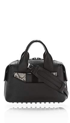 Alexander Wang Rogue Small Satchel In Black With Embossed Snake