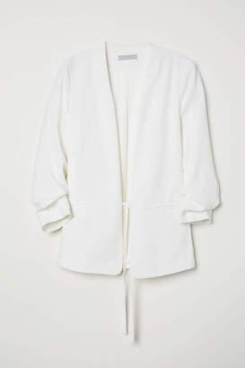 H&M Jacket with Ties - Cream - Women