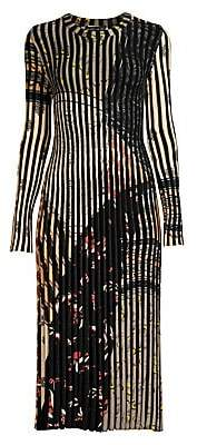Etro Women's Ribbed Stripe Knit Midi Dress