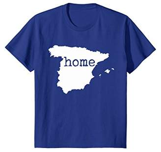 Spain Home T Shirt Spanish Map Flag Home Country Spaniards