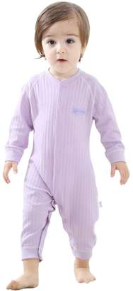 EsTong Baby Boys and Girls Cotton Sleeping Sack Solid Color Sleepwear Baby Nightgowns