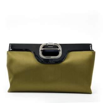 Roger Vivier Green Cloth Clutch bag
