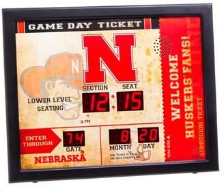 NCAA Evergreen Enterprises, Inc Bluetooth Scoreboard Wall Clock Team: University of Nebraska-Lincoln