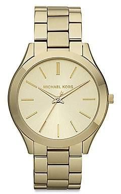 Michael Kors Women's Slim Runway Goldtone Stainless Steel Bracelet Watch