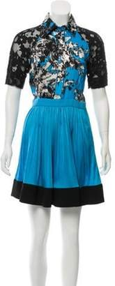 Ungaro Printed Mini Dress Black Printed Mini Dress