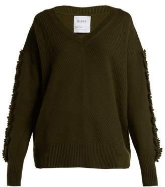 Barrie - Troisieme Dimension Crew Neck Cashmere Sweater - Womens - Khaki