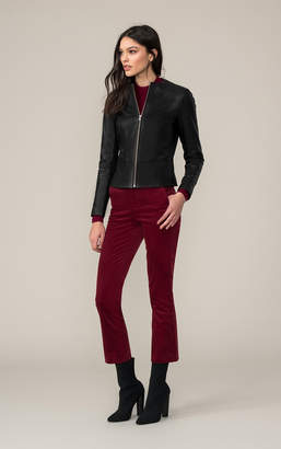 Soia & Kyo AUDREE slim-fit leather jacket with a peplum back