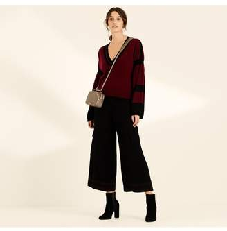 Amanda Wakeley Berry Black Bell Sleeve Cashmere Jumper