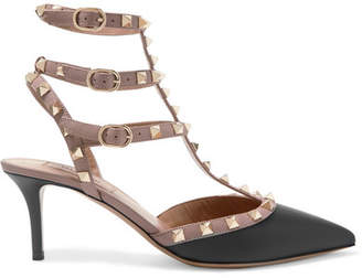 Valentino - Rockstud Leather Pumps - Black $995 thestylecure.com