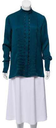 Hotel Particulier Pleated Long Sleeve Blouse
