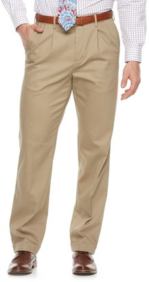 Croft & Barrow Big & Tall Classic-Fit Pleated No-Iron Stretch Pants