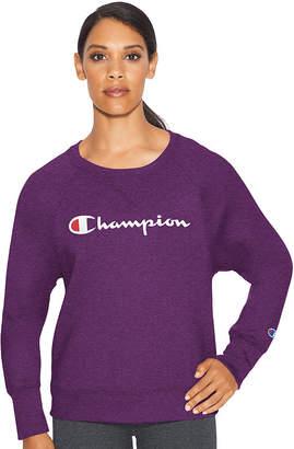 Champion Fleece Bf Crew Graphic Long Sleeve Sweatshirt