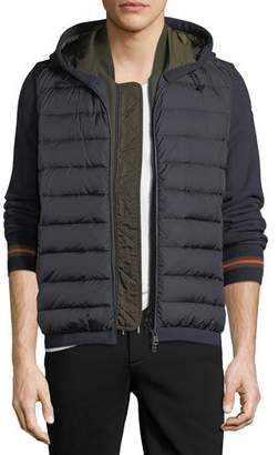 Moncler Double-Zip Puffer Cardigan w/ Hood