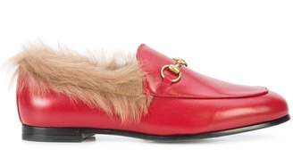 Gucci Jordaan fur lined loafers