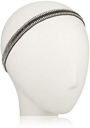 Deepa Gurnani Bugle Beads and Crystal Headband-