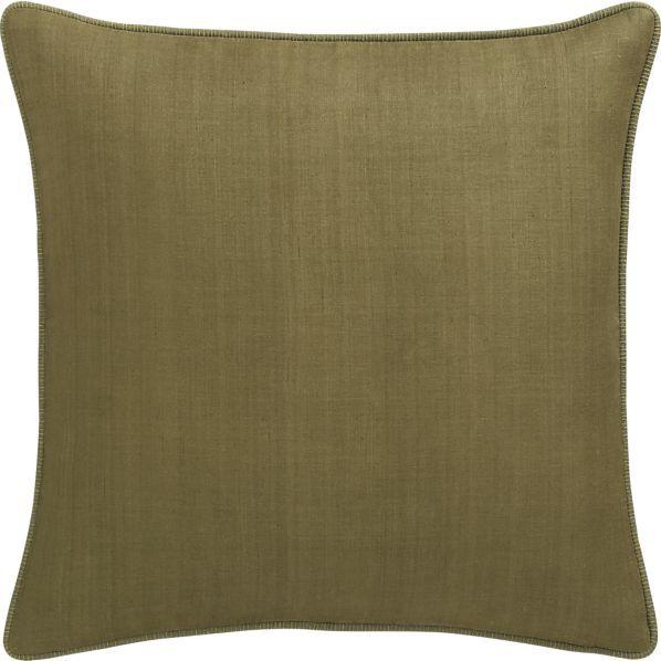 "Crate & Barrel Hayward Tarragon 18"" Pillow"