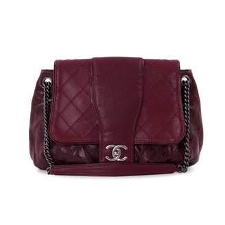 Chanel Burgundy Leather Handbag