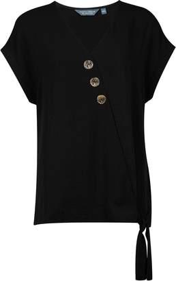 Dorothy Perkins Womens **Tall Black Wrap Top